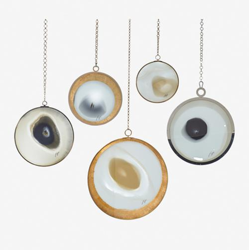 Lot 410: Yorgos Papadopoulos Five Laminated Glass + Resin Discs $8,000 - 12,000 Rago Auctions