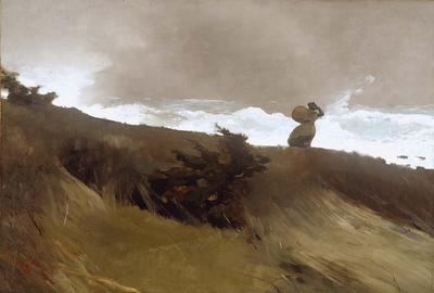 "Part of the Addison Gallery's ""Visualizing Poetry"" curriculum is Winslow Homer (1836 - 1910) The West Wind, 1891.  Dimensions: 30 in.  x 44 in."