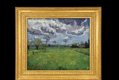 Frame for Vincent van Gogh's Paysage sous un Ciel Mouvemente, sold for $54 million, Sotheby's