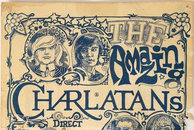 Original artwork for what is widely regarded as the very first psychedelic rock poster – created in 1965 for the grand opening of the Red Dog Saloon in Virginia City, Nev.  (est.  $10,000-$15,000).