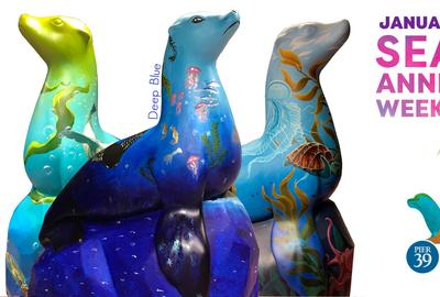 Deep Blue and 29 other sea lion statues will grace Pier 39 Jan 17-20, 2020