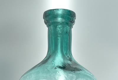 This 150-year-old blue Cassin's Grape Brandy Bitters bottle so rare that for years many doubted its very existence, circa 1867-1868, bluish teal in color, sold for a staggering $155,000.