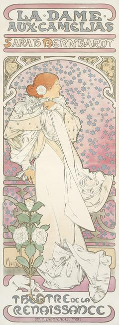 Alphonse Mucha, La Dame aux Camelias, 1896 ($28,800) Poster Auctions International