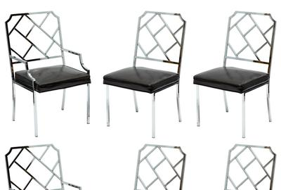 A set of six famed Modernist furniture designer Milo Baughman's chrome chairs for the Design Institute of America ($500-5,000) will cross the block.