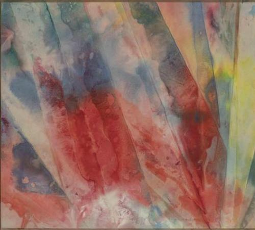 From The Winter Show exhibitor Gerald Peters Gallery: Sam Gilliam (American, b.  1933) Ray VI , 1970.  Acrylic on canvas , 51 1/4 x 108 1/4 inches.  Signed and titled on verso.