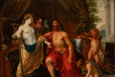 Circle of Pieter van Lint, Hercules and Omphale, Est.  $7,000-12,000.  Property from the Collection of Donald and Leona Kuba