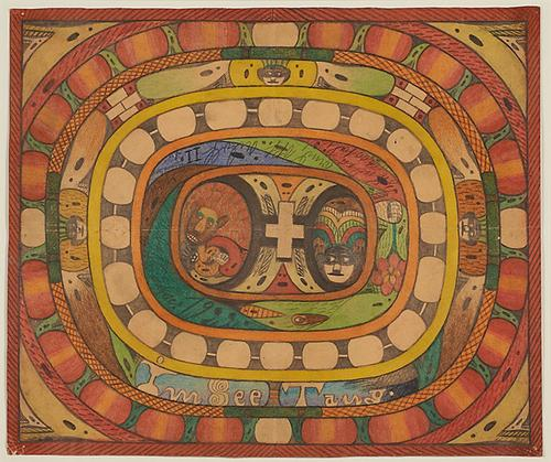 Lot 1049: Adolf Wölfli Untitled Colored Pencil and Pencil on Paper $10,000 - 15,000 Rago Auctions