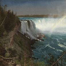 Albert Bierstadt, (1830-1902) Niagara, 1869.  Oil on paper laid down on canvas, 19 x 27 in.  (48.26 x 68.58 cm.) Joseph E.  Temple Fund, 2015.18
