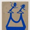 Bill Traylor, Blue Construction with Dog, 1854-1949, 13.5 x 7.5 in, Pencil and poster paint on cardboard, courtesy of Hirschl & Adler Modern, New York and Wide Open Arts, New York.