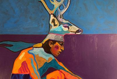Lot 83 John Nieto (American, Texas, NM, 1936-2018)  Deer Dancer, $3,000-5,000