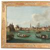 Oil on canvas depicting a Venice canal scene by a follower of Johan Richter, Italian School 18th Century.
