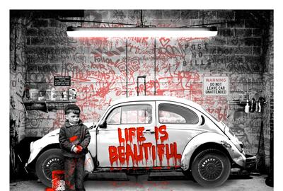 Mr.  Brainwash VW Beetle.