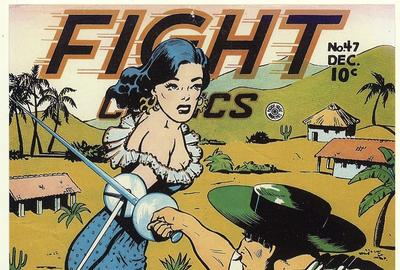 Lily Renée, Señorita Rio comic strip, in: Fight Comics no.  35, December 1944.  Reprinted in: Good Girl Art, Summer 1991 (reproduction).  Collection of the artist.