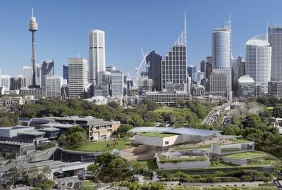 Sydney Modern Project Images 2 2.  Sydney skyline Image of the Sydney Modern Project as produced by Kazuyo Sejima + Ryue Nishizawa / SANAA © Art Gallery of New South Wales, 2018