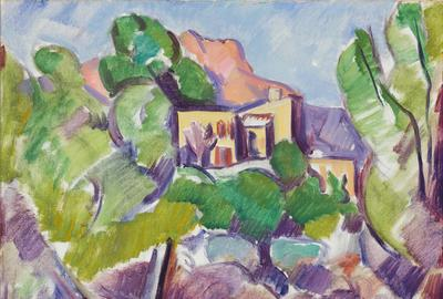 "Marsden Hartley's ""Landscape, No 29, Vence"" 1926-27"