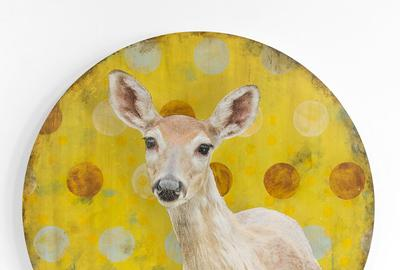 "Mike Weber, ""My Deer Friend,"" Mixed Media, 36 x 36 in"