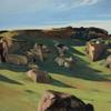 EDWARD HOPPER, CAPE ANN GRANITE, 1928.  Oil on canvas, 73.5 x 102.3 cm.  Private Collection.  © Heirs of Josephine Hopper / 2019, ProLitteris, Zurich