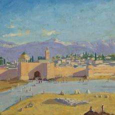 Sir Winston Churchill, 'Tower of the Koutoubia Mosque,' 1943.  Sold for $11.5 million at Christie's, London.