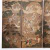 Ten-fold Chinese-subject Court Screen, Kangxi period, 18th century, 17 ft.w x 6.25h ft