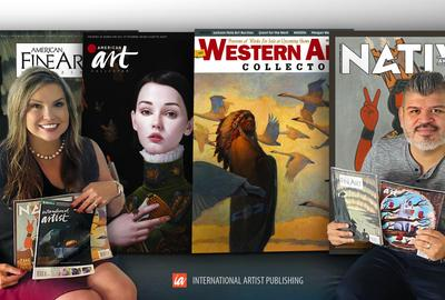 Wendie Martin and Adolfo Castillo, new publishers of the magazines from International Artist Publishing.