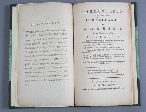 Thomas Paine,Common Sense, published in London, 1770 Lark Mason Associates