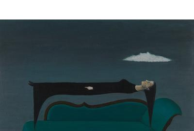 LOT 30: Gertrude Abercrombie, Levitation, 1964.  Estimate $10,000-20,000.  Tradition & Innovation, December 3, 2020.