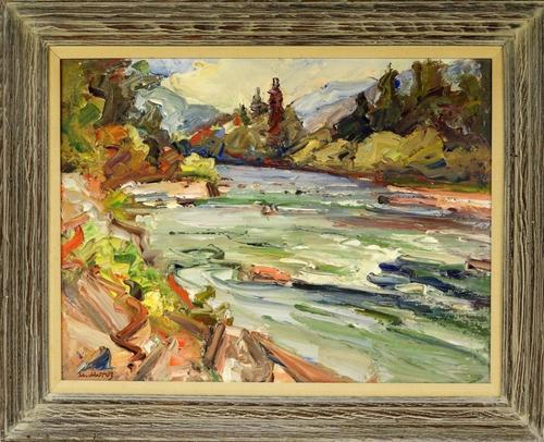 Three paintings by Ukrainian artist Mychajlo Moroz (1904