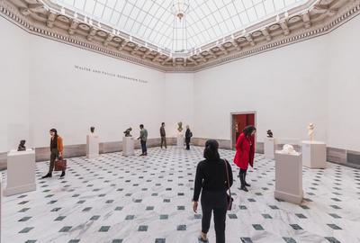 The Legion of Honor in San Francisco reopened to visitors in the fall with timed tickets purchased in advance online.  The Rodin Gallery is shown.  Image Courtesy of the Fine Arts Museums of San Francisco.