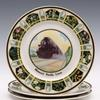 "Three Missouri Pacific Lines ""state flowers"" service plates, Syracuse China backstamps, 10½in diameter.  Estimate $200-$300"