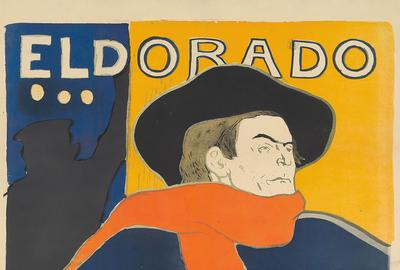 The great mythologizer of Montmartre, Henri de Toulouse-Lautrec, maintained his appeal to bidders.  His 1894 Eldorado / Aristide Bruant changed hands for $78,000.