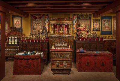 The Rubin Museum's Tibetan Buddhist Shrine Room.  Photo by David De Armas Photography, Courtesy of the Rubin Museum of Art.