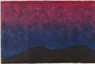 Rufino Tamayo, Galaxia, color mixografía, 1977.  Estimate $10,000 to $15,000.