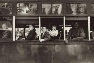 Robert Frank, Trolley—New Orleans, The Americans, plate 18 (portfolio), 1955, gelatin silver print, National Gallery of Art, Gift of Maria and Lee Friedlander, © Robert Frank, from The Americans.
