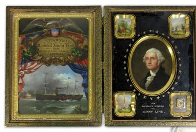 Oval portrait of George Washington as part of a museum-quality commemorative display presented to Swedish soprano Jenny Lind after her 1850 American tour (est.  $15,000-$20,000).