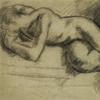 Duncan Grant, Large Drawing of Nude Lying on Side, Graphite on Paper (Estimate: $70,000- $100,000)