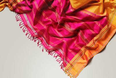 Sari (detail), woven silk, Bangalore, ca.  1867, © Victoria and Albert Museum, London