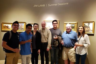 Laguna College of Art and Design (LCAD) partnered with Dawson Cole Fine Art to hold an exhibition celebrating Jim Lamb's Summer Artist in Residence workshop at LCAD.