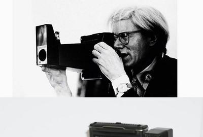 "Andy Warhol's personally owned iconic Polaroid camera – aptly named ""Big Shot! (shown, est.  $6,000-$7,000), together with a Warhol owned pair of antique glasses and a Rubinacci tie."