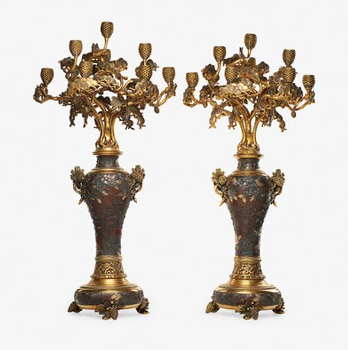 Lot 216: Christofle Impressive Pair of Candelabra $30,000 - 50,000 Rago Auctions