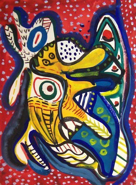 William Baziotes, Creature on Red Background, 1936