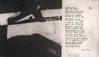 Franz Kline, Poem, 1957, intaglio with poem by by Frank O'Hara.