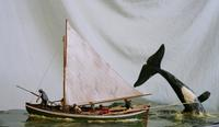 Woodsculpted Whaling Diorama