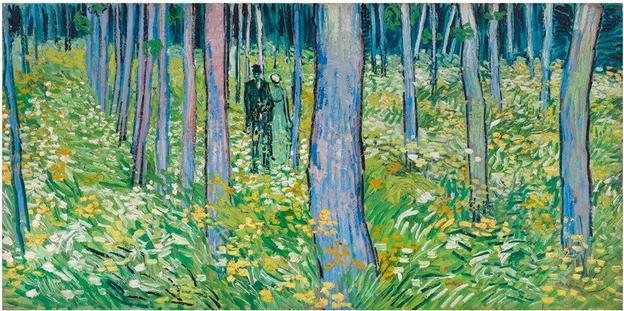Vincent van Gogh (Dutch, b.1853, d.1890); Undergrowth with Two Figures; 1890; oil on canvas; Bequest of Mary E.  Johnston; 1967.1430.