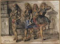 Reginald Marsh, Girls in the Street, 1946