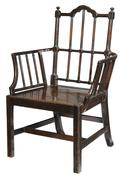 An Important Daniel Huger Horry/Rutledge Family Chinese Chippendale Mahogany Chair selling for $120,000 at Brunk Auctions.