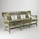 Paint Decorated Settee, $5,000-7,000