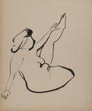 Isamu Noguchi, Figure Study, c.  1933.  Ink on paper, 24 3/8 x 20 1/8 inches.  Courtesy The Noguchi Museum.