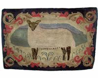 Sheep Rug Wool on burlap, 23 ¼ x 38 ¾ inches, Private Collection, Frost Design