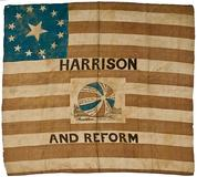 William Henry Harrison Campaign Flag Banner - realized $32,400
