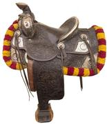 Beautiful circa 1930s silver parade saddle made by Keyston Brothers of San Francisco (est.  $3,500-$7,000).